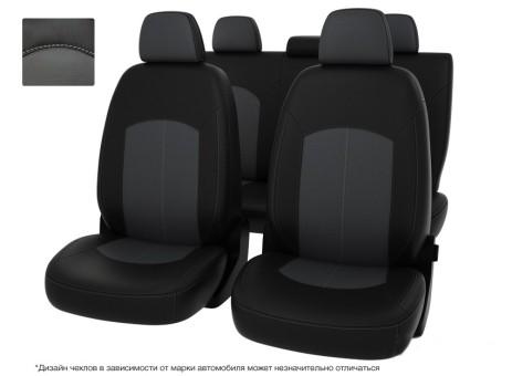 """Чехлы  Chevrolet Orlando 12-> 5м чер-сер экокожа """"Оригинал"""""""