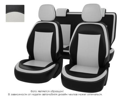 """Чехлы  Chevrolet Cobalt 13->чер-бел  экокожа """"Оригинал"""""""