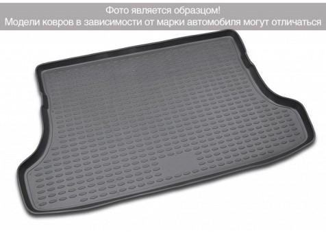 Коврик багажника Toyota RAV4 2012-> полноразм. колесо, бок. карманы, борт. чер НЛ   NLC.48.99.B14
