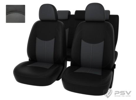 "Чехлы  Ford Kuga II Trend 13-> чер-сер  экокожа ""Оригинал"""