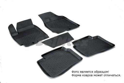 Коврики Kia Cerato 09-13г  резиновый с выс. борт. (Seintex)
