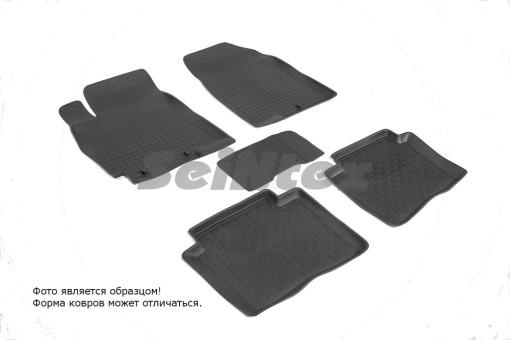 Коврики Kia Rio III/Hyundai Solaris 11-> резиновый с выс. борт (Seintex)