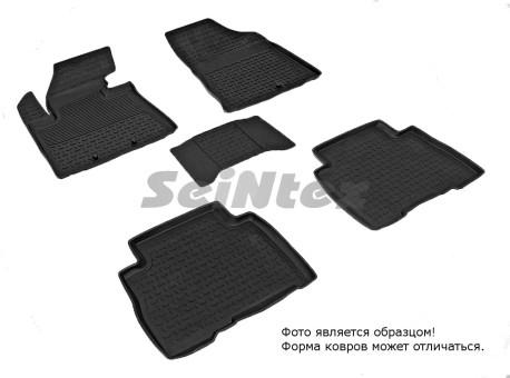 Коврики Kia Sorento II 13-> резиновый с выс. борт (Seintex)