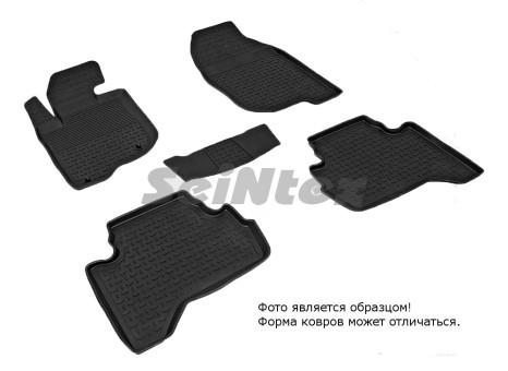 Коврики Mitsubishi L200 06-10г резиновый с выс. борт. (Seintex)   83325