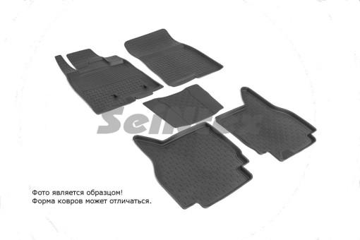 Коврики Mitsubishi Pajero IV 06-> резиновый с выс. борт. (Seintex)   86188