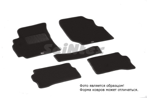 Коврики Nissan Almera Classic 2006-2012 г. - ворс Lux на рез. осн. (Seintex)   83302