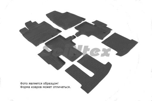 Коврики Nissan Pathfinder 12-> резиновый с выс. борт. (Seintex)