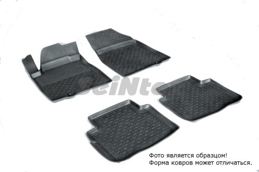 Коврики Nissan Teana 08-> резиновый с выс. борт. (Seintex)   81921