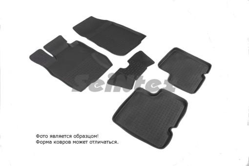 Коврики Renault Duster 2011-2015 г. - резиновый с выс. борт. (Seintex)   82718