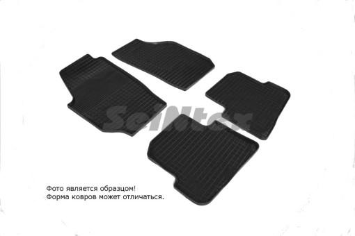"""Коврики Skoda Fabia II 2007-2015 г. - резиновый """"Сетка"""" (к-т) (Seintex)"""