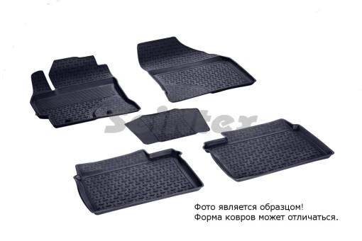 Коврики Toyota Corolla 2013-> резиновый с выс. борт. (Seintex)