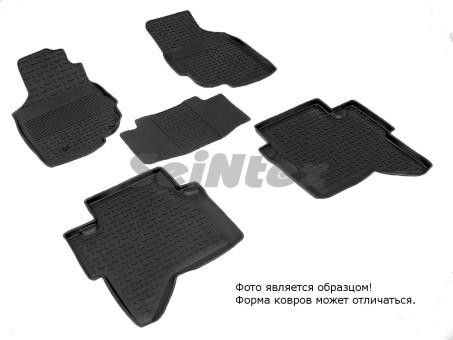 Коврики Toyota Hilux 12-> резиновый с выс. борт. (Seintex)