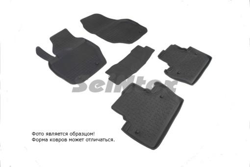 Коврики Volvo S-60 04-> резиновый с выс. борт. (Seintex)