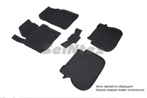 Коврики VW Caddy - резиновый с выс. борт. (Seintex)   85621