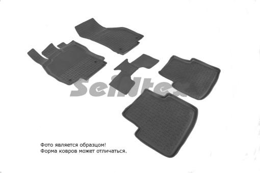Коврики VW Passat B8 14г  резиновый с выс. борт. (Seintex)