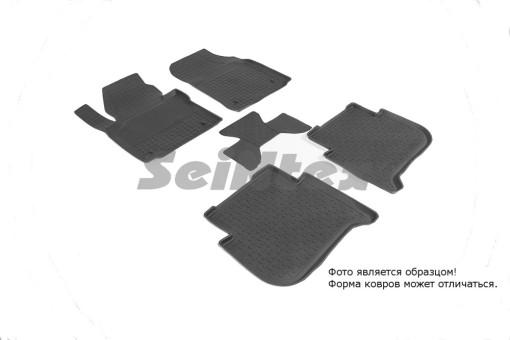 Коврики VW Touran II 10-> резиновый c выс. борт. (Seintex)   86192