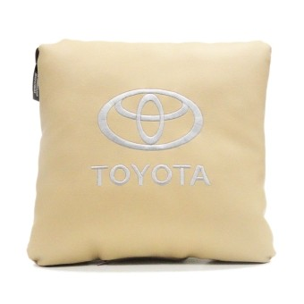 Подушка Toyota (экокожа, бежевая)