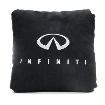 Подушка замшевая Infiniti (А18 - черная)