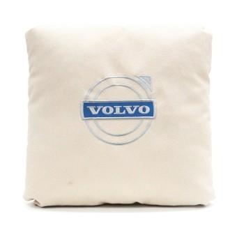 Подушка замшевая Volvo (А02- светло-бежевая)