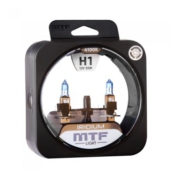 Лампы MTF Iridium H1 (12v, 55w, HRD1201, 2шт.)