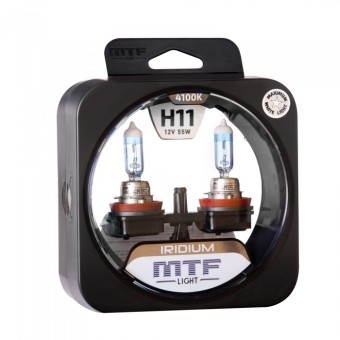 Лампы MTF Iridium H11 (12v, 55w, HRD1211, 2шт.)