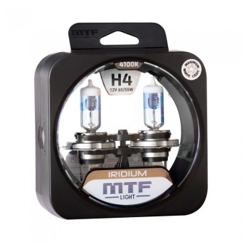 Лампы MTF Iridium H4 (12v, 60/55w, HRD1204, 2шт.)