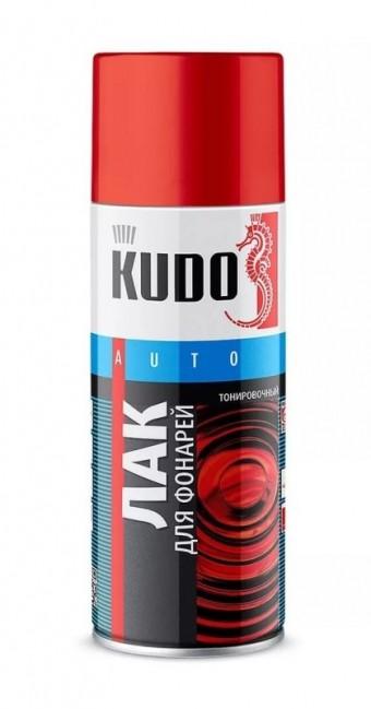 Лак для тонировки фонарей KUDO черный аэрозоль 520 мл KU-9021