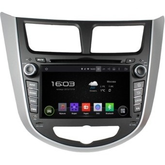 Головное устройство Hyundai Solaris - Incar AHR-2487 (Android)