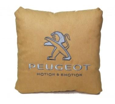 Подушка замшевая Peugeot (А02 - светло-бежевая)