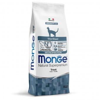 Сухой корм для кошек Monge Speciality Line - Sterilised Trout (10 кг)