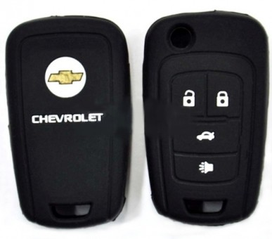 Чехол силиконовый для выкидного ключа Chevrolet 4 кн.