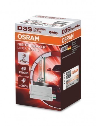 Ксеноновая лампа Osram D3S Xenarc Night Breaker Laser 4500K (+200%)