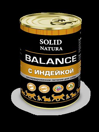 Консервы для собак Solid Natura Balance, индейка (340 г)