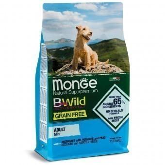 Сухой корм для собак Monge BWild Grain Free - Mini Adult Acciughe (беззерновой, 2,5 кг)