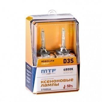 Ксеноновые лампы MTF Absolute Vision D3S 4800K (+50%, 2 шт)