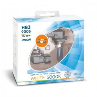 Лампы SVS White 5000K HB3 9005 (12 V, 65W, +2 W5W)