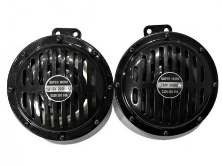Сигнал звуковой Torino WD-1059 дисковый (d150, 12 В, 2 шт, черный)