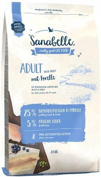 Сухой корм для кошек Sanabelle Adult с форелью NEW, 2 кг