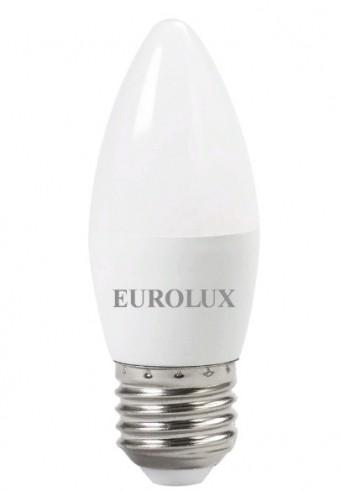 Лампа Eurolux LL-E-C37-6W-230-4K-E27 (480 Лм, свеча)