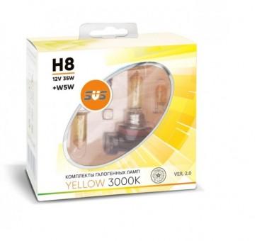 Лампы SVS Yellow 3000K H8 (12 V, 35W, +2 W5W)