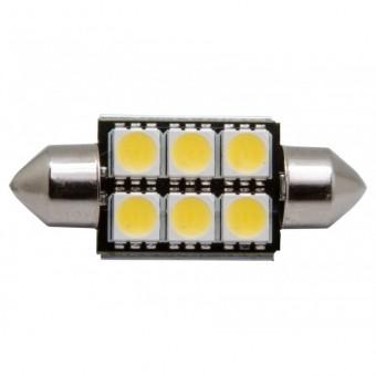 Светодиодная лампа MTF CAN-BUS C5W (5000К, с обманкой)