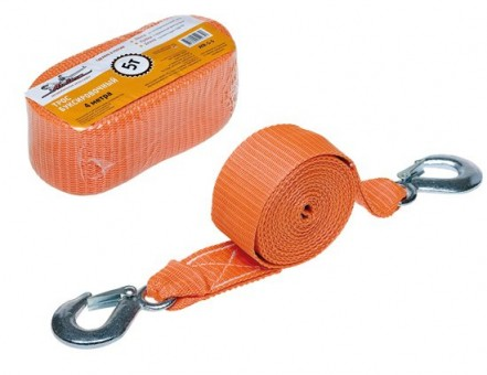 Трос буксировочный AirLine лента 5,0 т (2 крюка, 4 м)