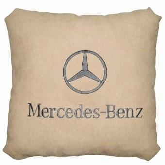 Подушка замшевая Mercedes (А02 - светло-бежевая)