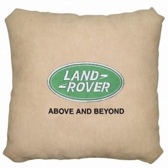 Подушка замшевая Land Rover (А02 - светло-бежевая)