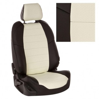 Чехлы Автопилот Лада Гранта (2011>) Luxe - черно-белые