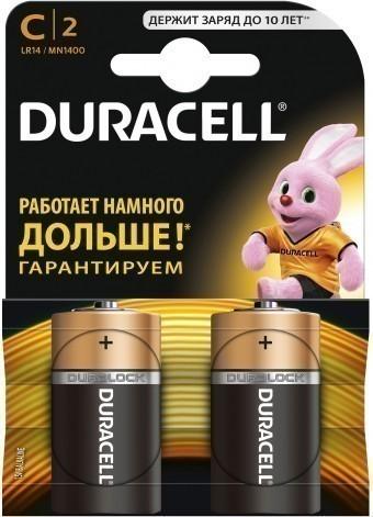 Батарейки C (LR14) Duracell Basic (блистер, 2 шт)