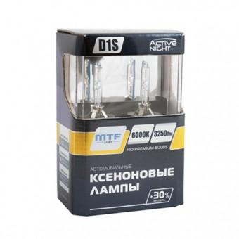 Ксеноновые лампы MTF Active Night D1S 6000K (+30%, 2 шт)