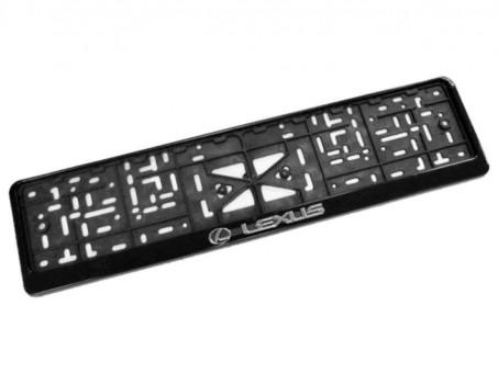 Рамка для номера с логотипом Lexus (с нижней защелкой, черная)