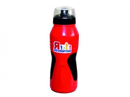 Бутылка для воды «Я со Спортом» БС-70-05, красно-черная, с крышкой, 700 мл.