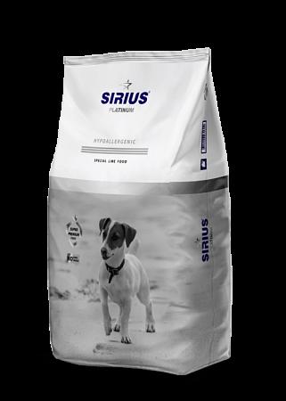 Сухой корм для собак малых пород Sirius Platinum, индейка и овощами (3 кг)